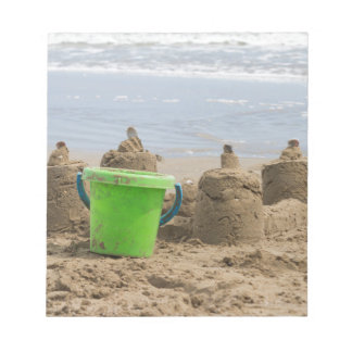 sandcastles on the beach notepads