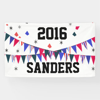 Sanders Big & Bold Flags Stars 2016 Elections Banner