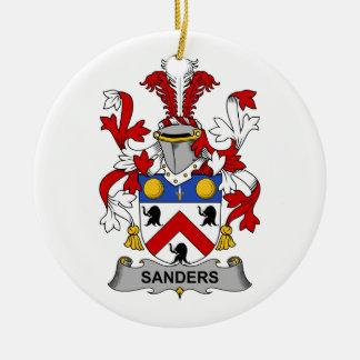 Sanders Family Crest Christmas Ornament