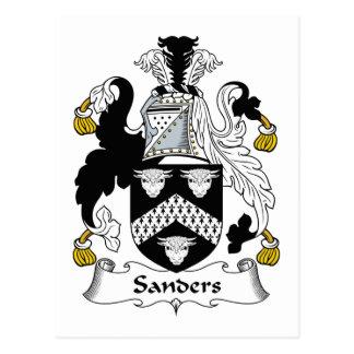 Sanders Family Crest Postcard
