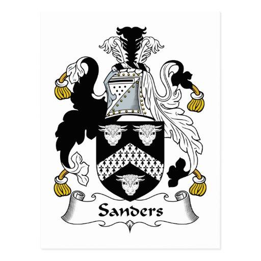 Sanders Family Crest Postcards