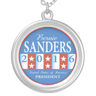 Sanders for President Round Pendant Necklace