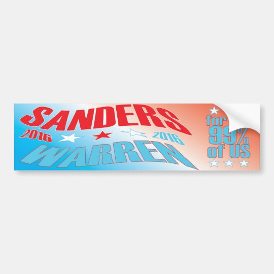 Sanders/Warren#2 BUMPER STICKER