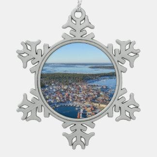 Sandhamn, Stockholm archipelago, Sweden Snowflake Pewter Christmas Ornament