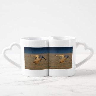 sandhill crane coffee mug set