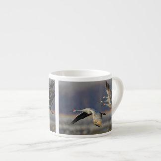 sandhill crane flock in flight espresso mug