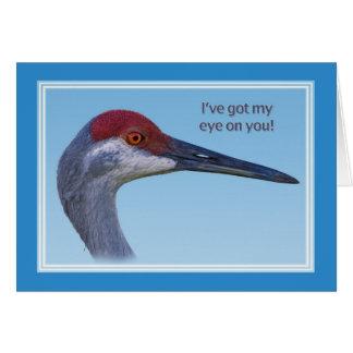 Sandhill Crane in Blue Card