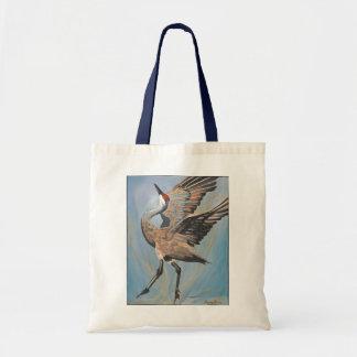 Sandhill crane tote bag