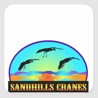 Sandhills Cranes Square Sticker