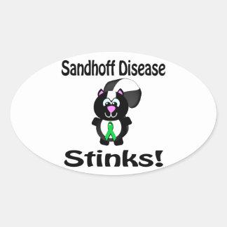 Sandhoff Disease Stinks Skunk Awareness Design Oval Stickers