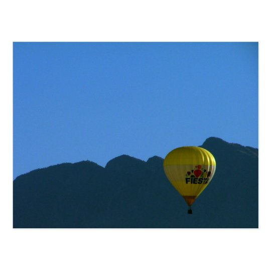 Sandia Mountains Fiesta Balloon Postcard