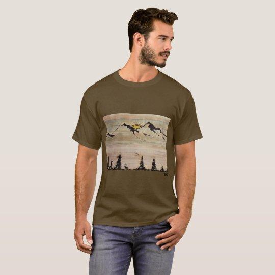 Sandie G Mens mountain t-shirt