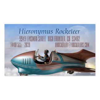 Sandlark Retro Rocket Business Cards