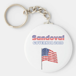Sandoval Patriotic American Flag 2010 Elections Keychains