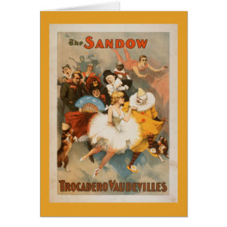 Sandow Trocadero Vaudevilles Carnival Theme Card