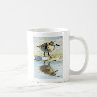 Sandpiper 5, Bird, Ocean, Beach, Nautical, Art Coffee Mug