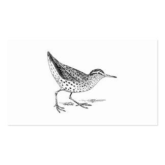 Sandpiper Bird Art Business Card Template