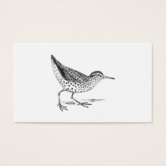 Sandpiper Bird Art Business Card