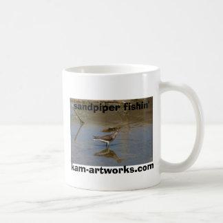 'Sandpiper fishin' kam-artworks.com Basic White Mug