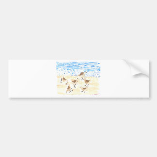 Sandpipers on Old Orchard Beach Bumper Sticker
