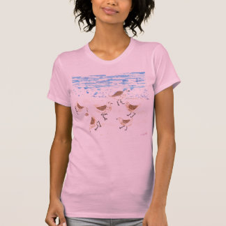 Sandpipers on Old Orchard Beach, Maine Tee Shirts