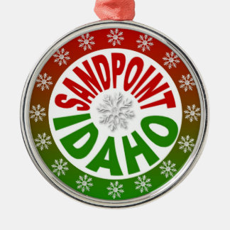 Sandpoint Idaho red green ornament