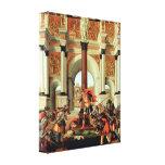 Sandro Botticelli - Death of Lucretia Gallery Wrapped Canvas