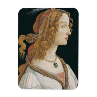 Sandro Botticelli - Idealized Portrait of a Lady Rectangular Photo Magnet
