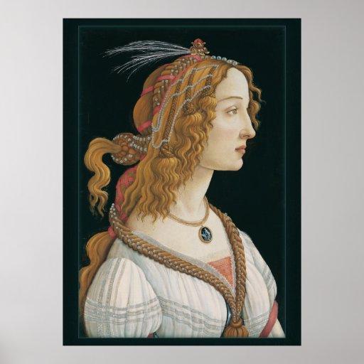 Sandro Botticelli Lady CC0281 Poster (44in 112 cm)