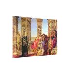 Sandro Botticelli - Slander Stretched Canvas Print