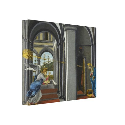 Sandro Botticelli - The Anunciation Stretched Canvas Print