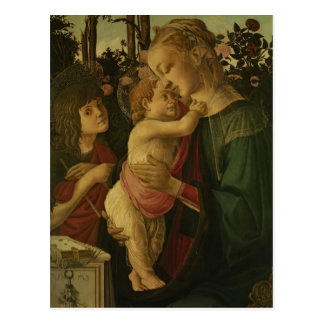 Sandro Botticelli:The Madonna and Child with Saint Postcards