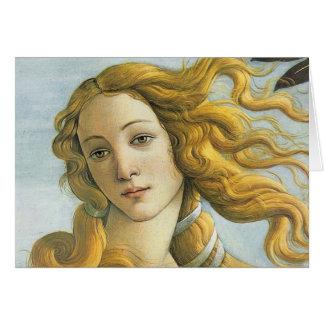 Sandro Botticelli - Venus (Detail) Greeting Card