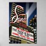Sands Hotel Las Vegas Retro Art Poster