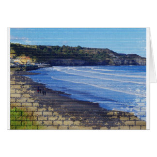 Sandsend through the brick wall card