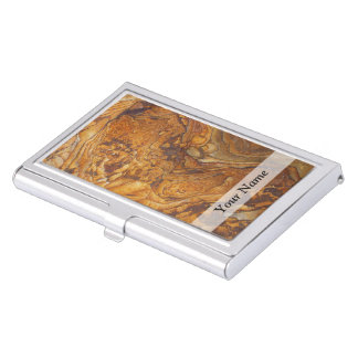 Sandstone abstract pattern business card holder