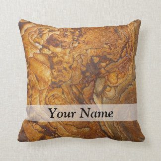 Sandstone abstract pattern cushion