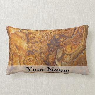 Sandstone abstract pattern lumbar cushion