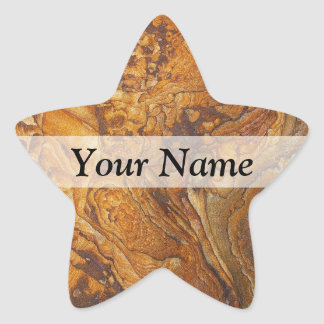 Sandstone abstract pattern star sticker