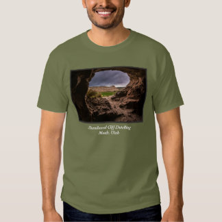 Sandstone Cave In Stormy Weather - Moab - Utah T Shirts