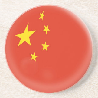 Sandstone Coaster - China Chinese flag