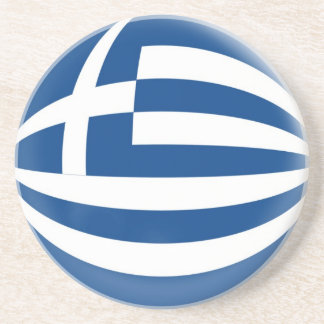 Sandstone Coaster - Greece flag