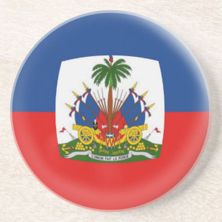 Sandstone Coaster - Haiti flag
