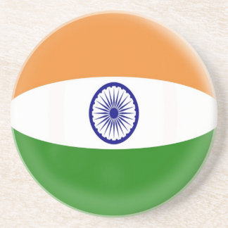 Sandstone Coaster - India flag