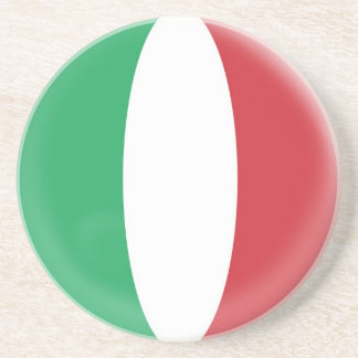 Sandstone Coaster - Italy Italian flag