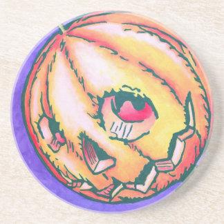 Sandstone Coaster - Jack Pumpkinhead