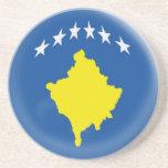 Sandstone Coaster - Kosovo Kosovan flag
