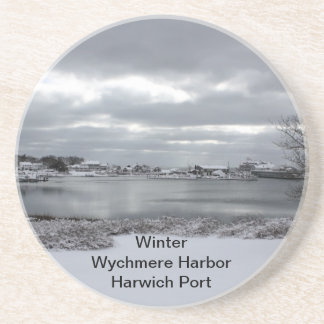 Sandstone Coaster of Wychmere Harbor in Winter
