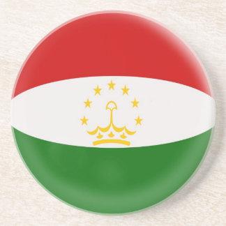 Sandstone Coaster - Tajikistan flag