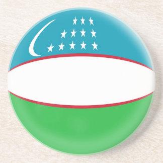 Sandstone Coaster - Uzbekistan flag